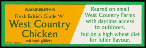 Sainsbury's Fresh British Grade 'A' West Country Chicken